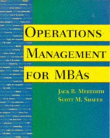 Download Operations management for MBAs