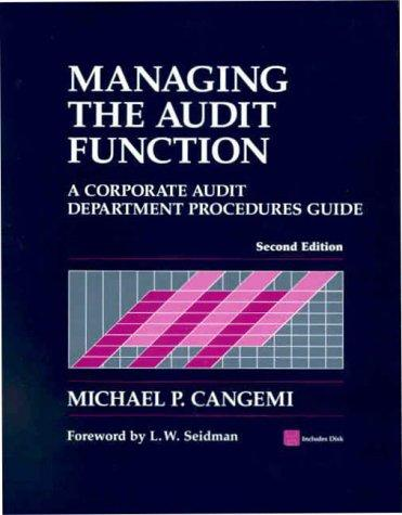 Download Managing the Audit Function