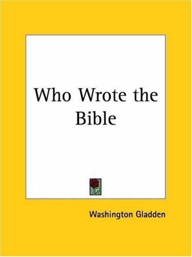 Download Who Wrote the Bible