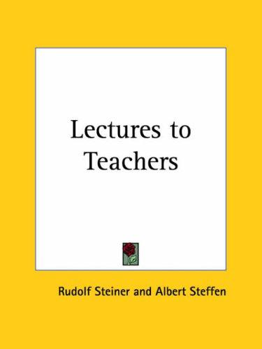 Lectures to Teachers