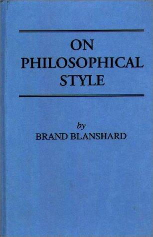 On philosophical style.