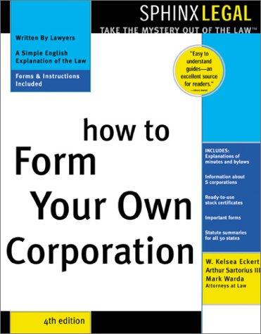 How to form your own corporation