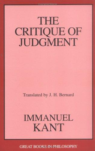 Download The critique of judgment