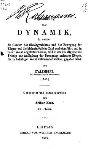 Abhandlung über dynamik