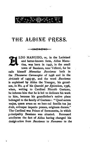 Download …A bibliographical sketch of the Aldine press at Venice
