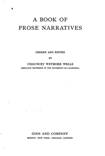 A book of prose narratives