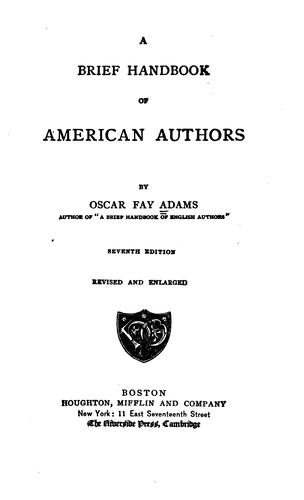Download A brief handbook of American authors