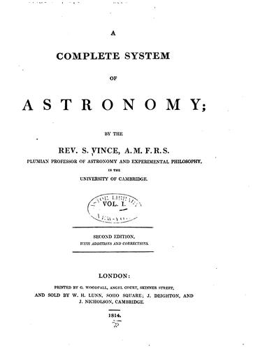 A complete system of astronomy