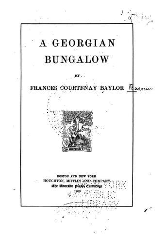 A Georgian bungalow