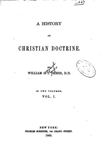 Download A history of Christian doctrine
