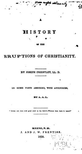 Download An history of the corruptions of Christianity