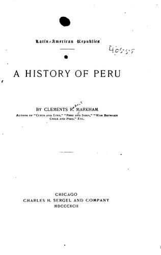 A history of Peru.
