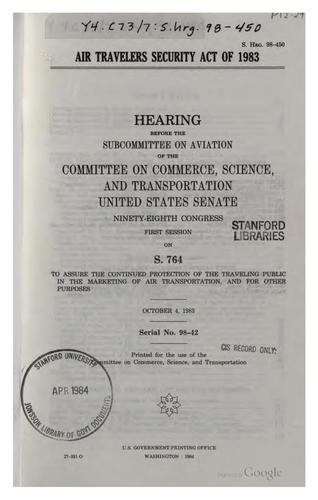 Air Travelers Security Act of 1983