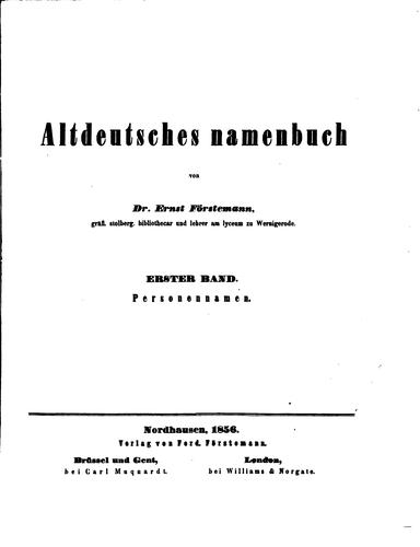 Download Altdeutsches Namenbuch