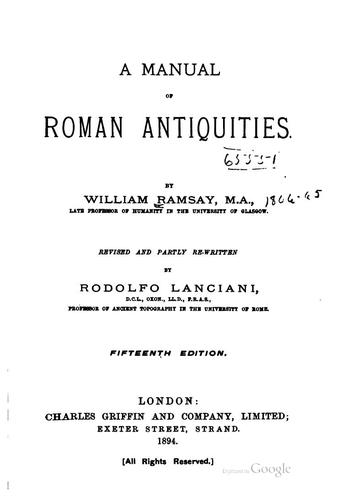 Download A manual of Roman antiquities