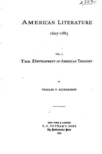 American literature 1607-1885 …