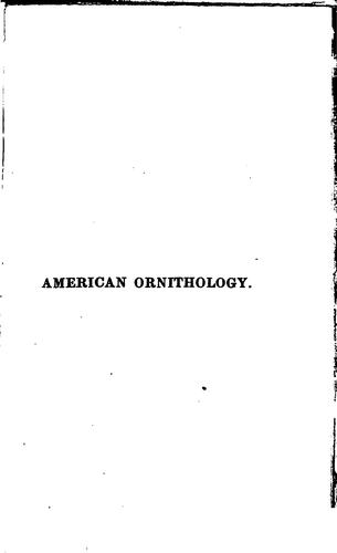 American ornithology