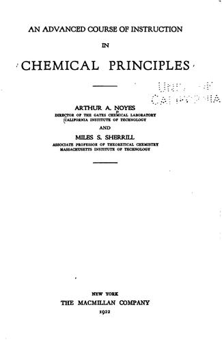 Download An advanced course of instruction in chemical principles