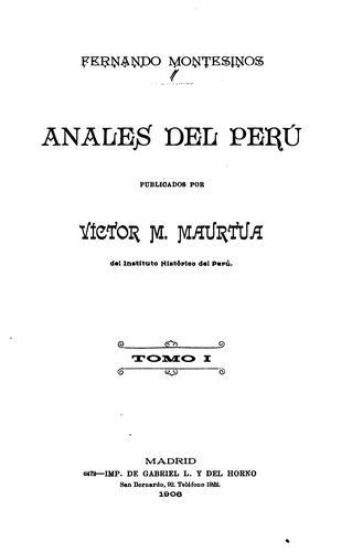 Anales del Perú