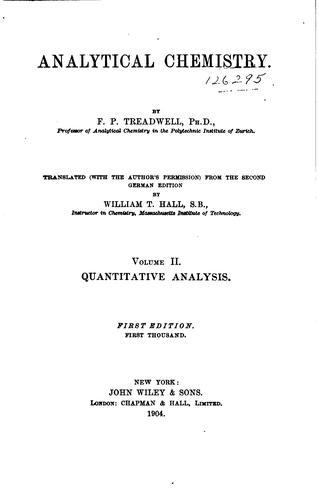 Analytical chemistry.