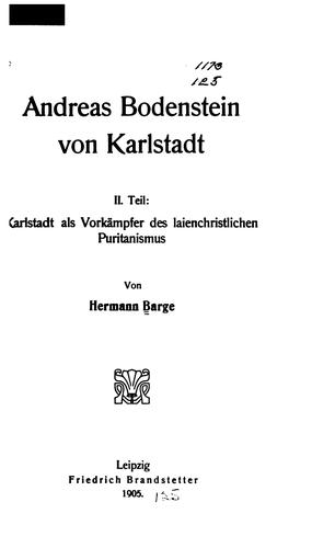 Download Andreas Bodenstein von Karlstadt.