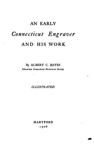 Download An early Connecticut engraver and his work