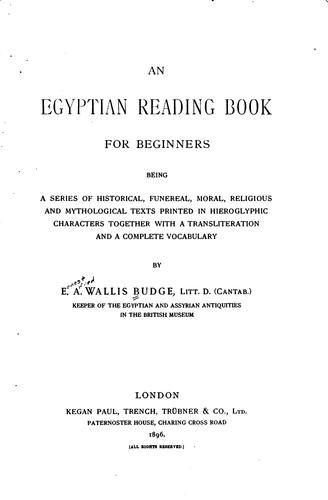 Download An Egyptian reading book for beginners