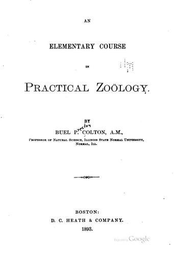 Download An elementary course in practical zoölogy.
