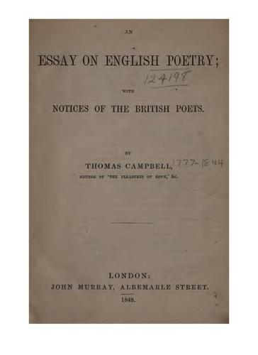 Download An essay on English poetry