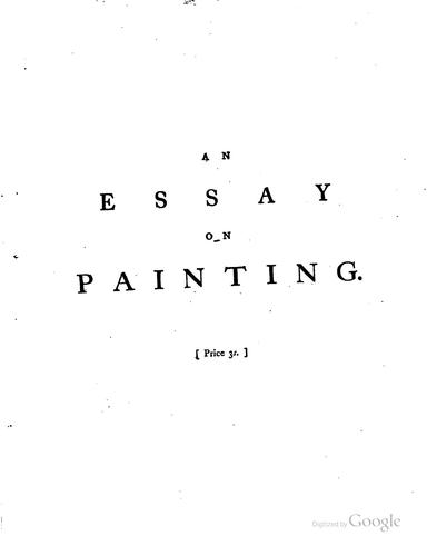 Download An essay on painting