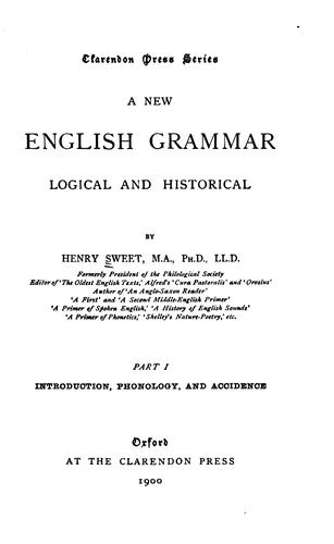 A new English grammar, logical and historical