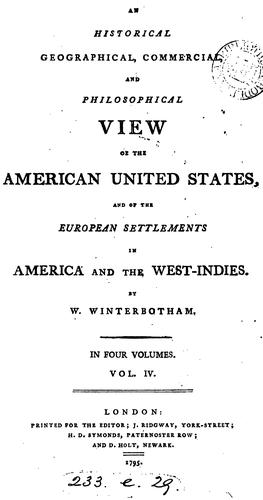 Download An historical, geographical, commercial, and philosophical view of the American United States