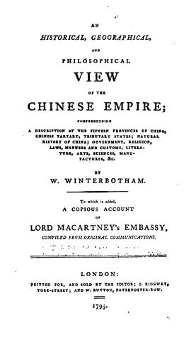 Download An historical, geographical, and philosophical view of the Chinese Empire