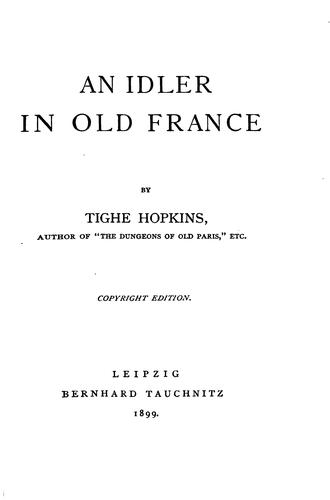 Download An idler in old France