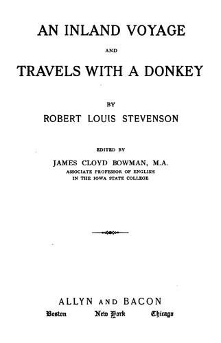 Download An  inland voyage, and Travels with a donkey