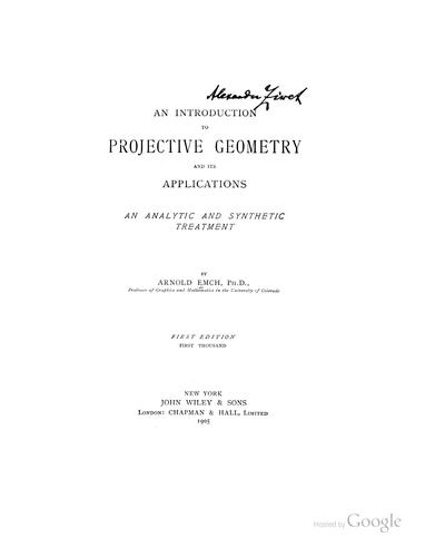 Download An introduction to projective geometry and its applications