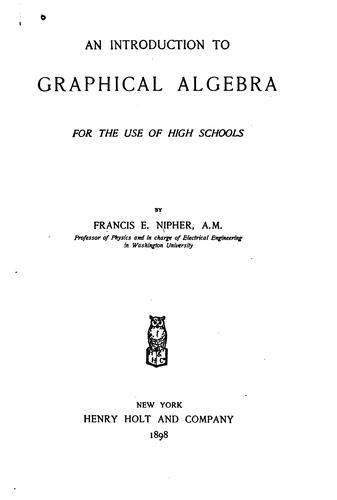 Download An introduction to graphical algebra