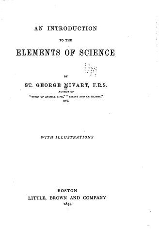 An introduction to the elements of science.