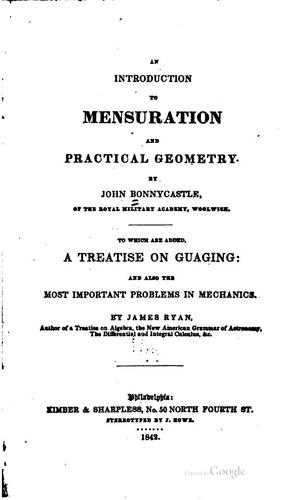 An introduction to mensuration and practical geometry.