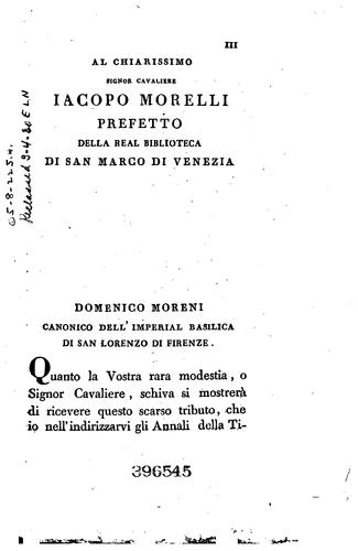 Download Annali della tipografia fiorentina di lorenzo Torrentino.