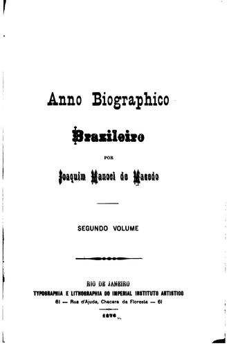 Anno biographico brazileiro
