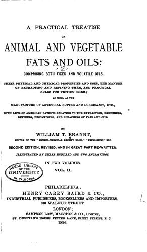 A practical treatise on animal and vegetable fats and oils