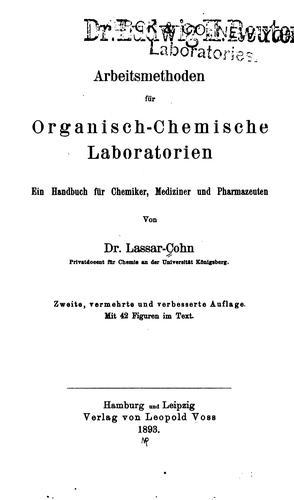 Download Arbeitsmethoden für organisch-chemische Laboratorien