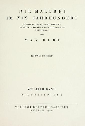 Download Die Malerei im XIX. Jahrhundert