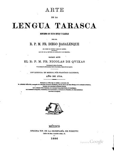 Download Arte de la lengua tarasca.
