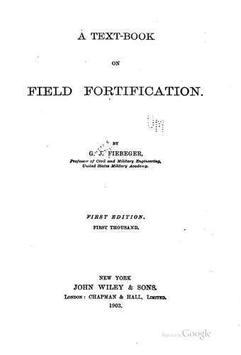 A text-book on field fortification.
