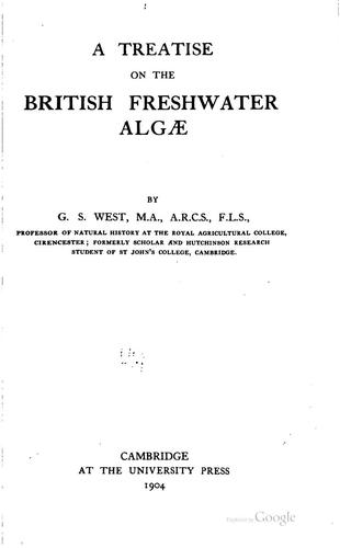 Download A treatise on the British freshwater Algae