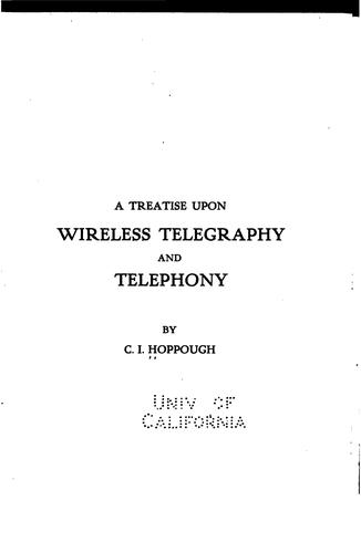 Download A treatise upon wireless telegraphy and telephony