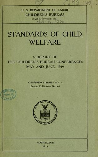 Standards of child welfare.