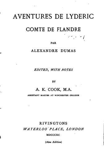 Aventures de Lyderic, comte de Flandre.